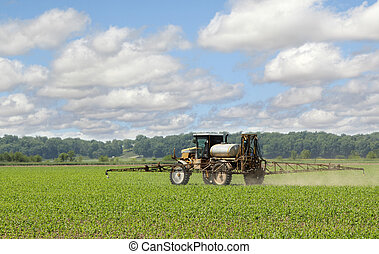 Spraying Corn Crop