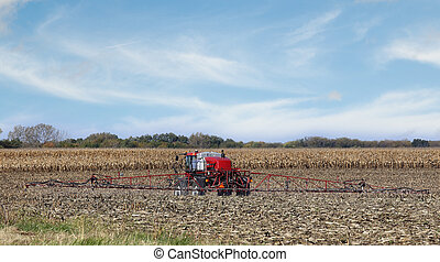 Spraying Farm Field