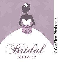 sprcha, svatební, pozvání