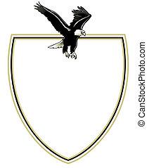 spread eagle on emblem