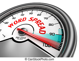 Spread the word to hundred per cent - word spread to hundred...