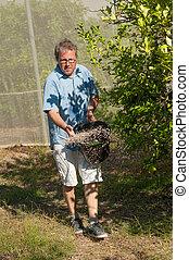 Spreading fertilizer