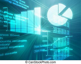 Spreadsheet business charts illustration