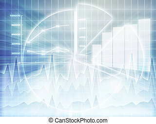 Spreadsheet business charts - Illustration of Spreadsheet...