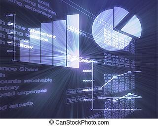 Spreadsheet business charts illustration - Illustration of...