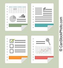Spreadsheet design, vector illustration.