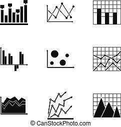 Spreadsheet icons set, simple style