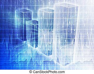 spreadsheet, negócio, gráficos