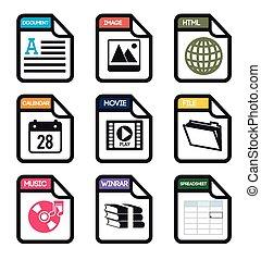 spreadsheet, ontwerp, vector, illustration.