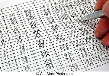 Spreadsheet - spreadsheet chart