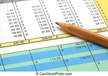 Spreadsheet with Pencil