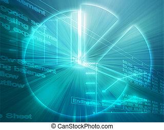 spreadsheet, zakelijk, diagrammen, illustratie