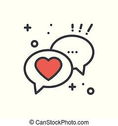 Datiert auf Beziehungsgespräch