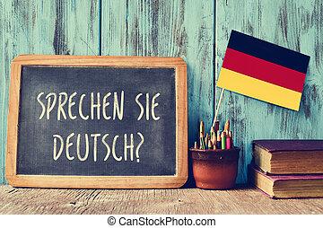 sprechen, question, german?, sie, deutsch?, vous, parler