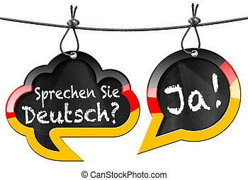 Sprechen Sie Deutsch - Speech Bubbles - Two speech bubbles ...