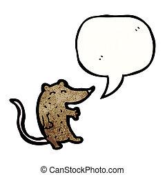 sprechende , maus, karikatur
