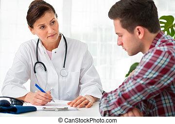 sprechende , patient, doktor