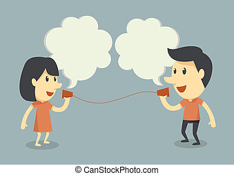 sprechende , telefon, becher