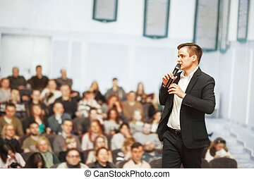 sprecher, geschäft versammlung