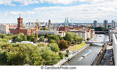 Spree River with Rathausbrucke in Berlin - travel to Germany...