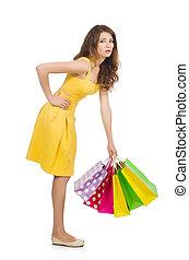 spree, shopping mulher, branca, após