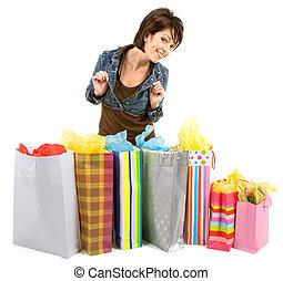 spree, shopping mulher, jovem