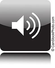 spreker, volume, pictogram