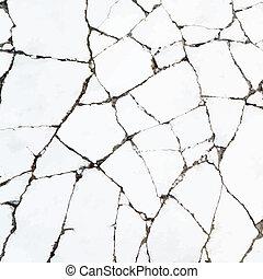 sprickor, in, den, sten, yta, vektor, backgruond