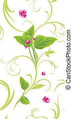 sprig, 由于, 粉紅色, flowers., 背景
