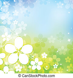 spring abstract background with white apple flowers