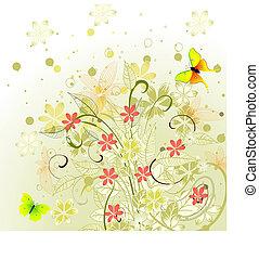 spring abstract design