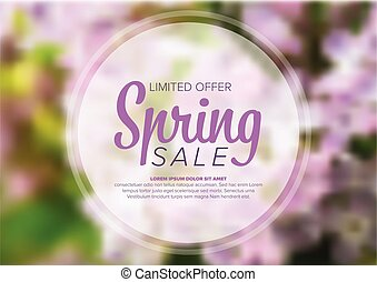Spring abstract floral flyer