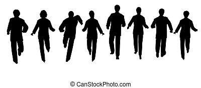 spring, affärsfolk