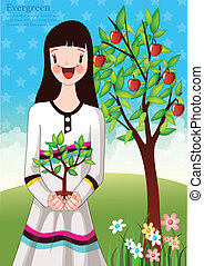 Spring and Plant Tree