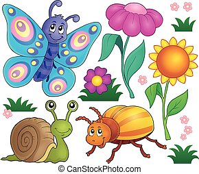 Spring animals and insect theme set 2