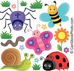 Spring animals and insect theme set 3