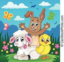 Spring animals theme image 4 - eps10 vector illustration.