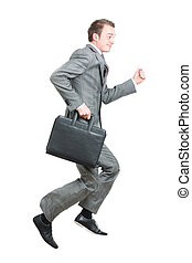 spring, arbete, affärsman