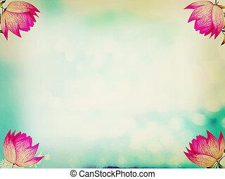 spring background . 3D illustration. Vintage style.
