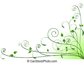 Spring Background - Vector Spring Floral Background with...