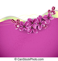 Spring background for the design of flowers. Vector...