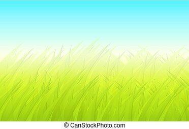 Spring background green