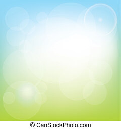 Spring background - meadow and lights, vector