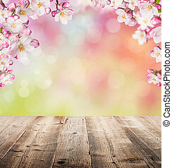 Spring background - Spring abstract backgroud with wooden ...