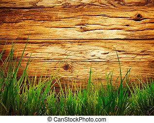 Spring background - Spring grass background. Grass over...