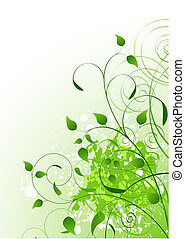 Vector Beautiful Green Spring ,background. Place for copytext