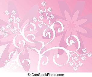 Spring background, vector - Spring background,  illustration