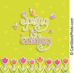 Spring background, vector.