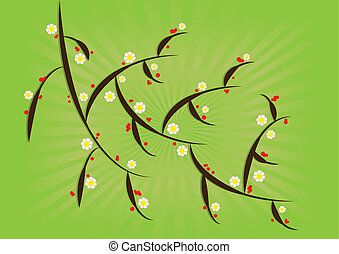 Spring background - vector