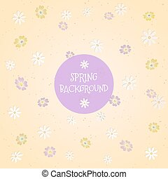 Spring background with chamomile flowers. Vector Illustration